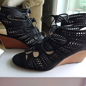Torrid Lace Up Wedge Sandals
